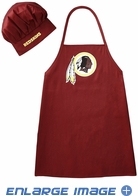 Apron & Chef Hat - BBQ Set - Washington Redskins