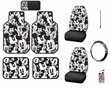 Auto Accessories Interior Combo Kit Gift Set - 10 pcs - Mickey Mouse - Expressions