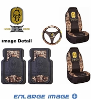 Auto Accessories Interior Combo Kit Gift Set - 5pc - Camouflage - Hard Core Decoys