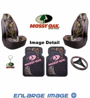 Auto Accessories Interior Combo Kit Gift Set - 6pc - Mossy Oak Infinity Pink Camo