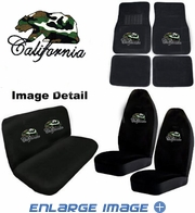 Auto Accessories Interior Combo Kit Gift Set - 8pc - Crystal Studded Rhinestone Bling - California Bear - Camo