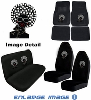 Auto Accessories Interior Combo Kit Gift Set - 8pc - Crystal Studded Rhinestone Bling - Disco Afro Girl