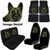 Auto Accessories Interior Combo Kit Gift Set - 8pc - Crystal Studded Rhinestone Bling - German Shepherd