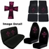 Auto Accessories Interior Combo Kit Gift Set - 8pc - Crystal Studded Rhinestone Bling - High Cross - Pink