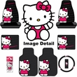 Auto Accessories Interior Combo Kit Gift Set - 8pc - Hello Kitty Sanrio Waving