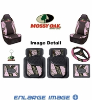 Auto Accessories Interior Combo Kit Gift Set - 8pc - Mossy Oak Infinity PINK Print Camo