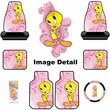 Auto Accessories Interior Combo Kit Gift Set - 8pc - Tweety Bird Happy in Pink