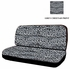 Rear Car Truck SUV Bench Seat Cover - Animal Print - Grey Snow Cheetah
