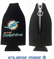 Bottle Cooler Koozie - Glitter Style - Miami Dolphins