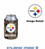 Can Cooler Koozie - Camo Style - Pittsburgh Steelers