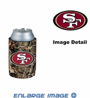Can Cooler Koozie - Camo Style - San Francisco 49ers