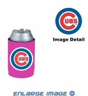 Can Cooler Koozie - Pink Style - Chicago Cubs