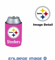 Can Cooler Koozie - Pink Style - Pittsburgh Steelers