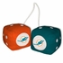 Car Rearview Mirror Fuzzy Dice - Miami Dolphins