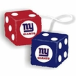 Car Rearview Mirror Fuzzy Dice - NFL Football - New York Giants