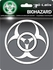 Car Trunk 3D Chrome Emblem - Biohazard Logo
