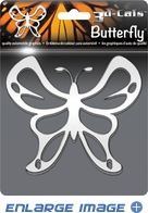 Car Trunk 3D Chrome Emblem - Butterfly