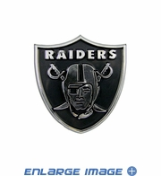 Car Trunk 3D Chrome Emblem - Oakland Raiders