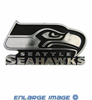 Car Trunk 3D Chrome Emblem - Seattle Seahawks