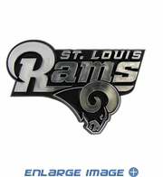Car Trunk 3D Chrome Emblem - St. Louis Rams