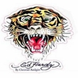 Cling Bling Decal - Ed Hardy Tiger Design