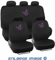 Combo Kit Gift Set - Automotive Interior - 9pc - Car Truck SUV - Purple Butterfly
