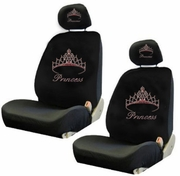 Rhinestudded Low Back Seat Covers