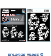 Decal Kit - Car Truck SUV - 9pc - Disney - Star Wars - Storm Trooper Family