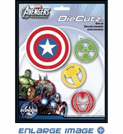 Decal Sticker - Car Truck SUV - Die Cutz - Marvel Comics - Avengers Assemble - Logos
