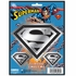 3pc Decal Sticker - Car Truck SUV - Classic Emblemz - DC Comics - Superman - Shield Logo