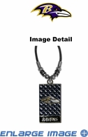 Diamond Plate Necklace - Baltimore Ravens
