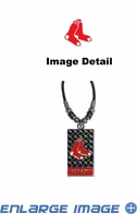 Diamond Plate Necklace - Boston Red Sox