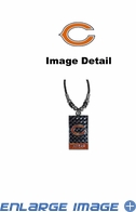 Diamond Plate Necklace - Chicago Bears