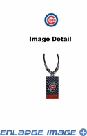 Diamond Plate Necklace - Chicago Cubs