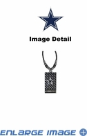 Diamond Plate Necklace - Dallas Cowboys