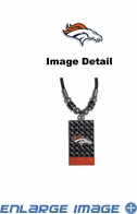 Diamond Plate Necklace - Denver Broncos