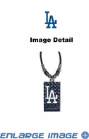 Diamond Plate Necklace - Los Angeles Dodgers