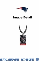 Diamond Plate Necklace - New England Patriots