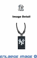 Diamond Plate Necklace - New York Yankees