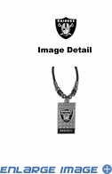 Diamond Plate Necklace - Oakland Raiders