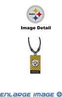 Diamond Plate Necklace - Pittsburgh Steelers