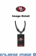 Diamond Plate Necklace - San Francisco 49ers