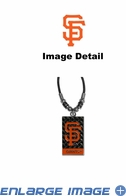 Diamond Plate Necklace - San Francisco Giants