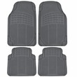 Front and Rear Floor Mats - All Weather Heavy Duty Premium Rubber - Car Truck SUV - Grey