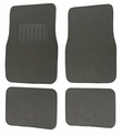 Front and Rear Floor Mats - Carpet - Car Truck SUV - Raised Stripes - Grey