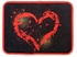 Front and Rear Seat Carpet Floor Mats - Car Truck SUV - Big Red Heart