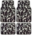 Front and Rear Seat Carpet Floor Mats - Car Truck SUV - Sexy Lady
