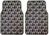 Front and Rear Seat Carpet Floor Mats - Car Truck SUV - Skull with Cross Bones