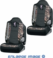 Front Car Truck SUV Bucket Seat Covers - Browning Pink Buckmark Camo - PAIR