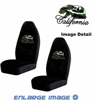 Front Car Truck SUV Bucket Seat Covers - Crystal Studded Rhinestone Bling - California Bear - Camo